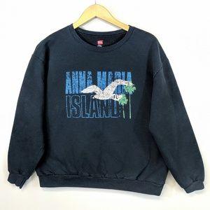Vintage 90's Anna Maria Island Cropped Fleece